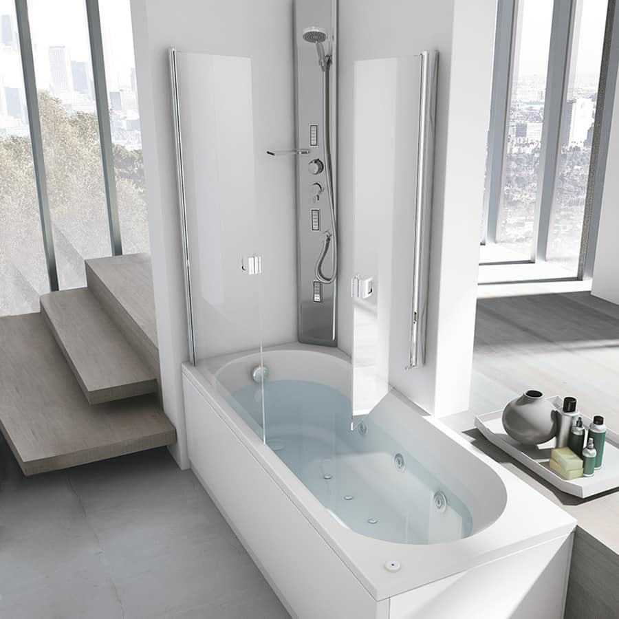 Vasca idromassaggio con box doccia per la casa idfdesign for Vasca e doccia combinate