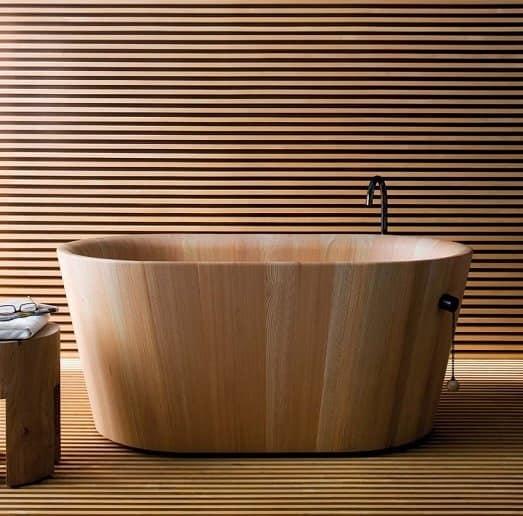 Ofurò, Vasca bagno in legno, in stile giapponese