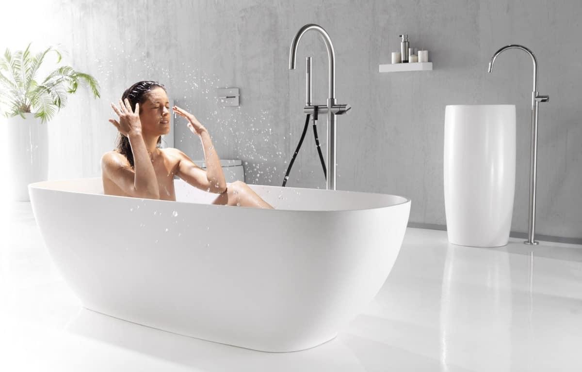 Vasca Da Bagno Piccola In Ceramica : Vasca da bagno ovale in ceramica idfdesign