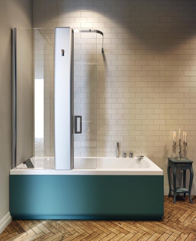 Vasca idromassaggio con box doccia varie dimensioni idfdesign - Box x vasca da bagno ...
