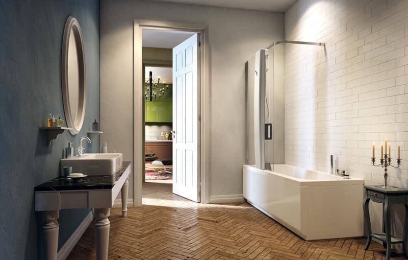 Vasca idromassaggio con box doccia, varie dimensioni  IDFdesign