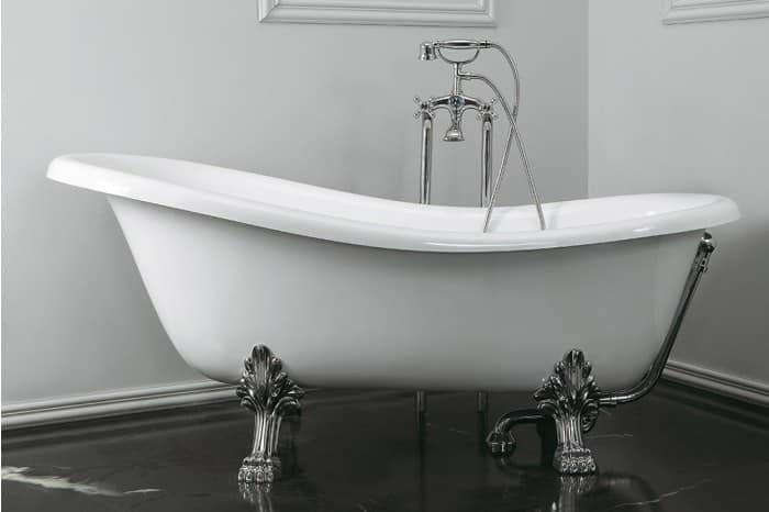 Vasca da centro stanza con piedini idfdesign - Vasca da bagno con i piedi ...