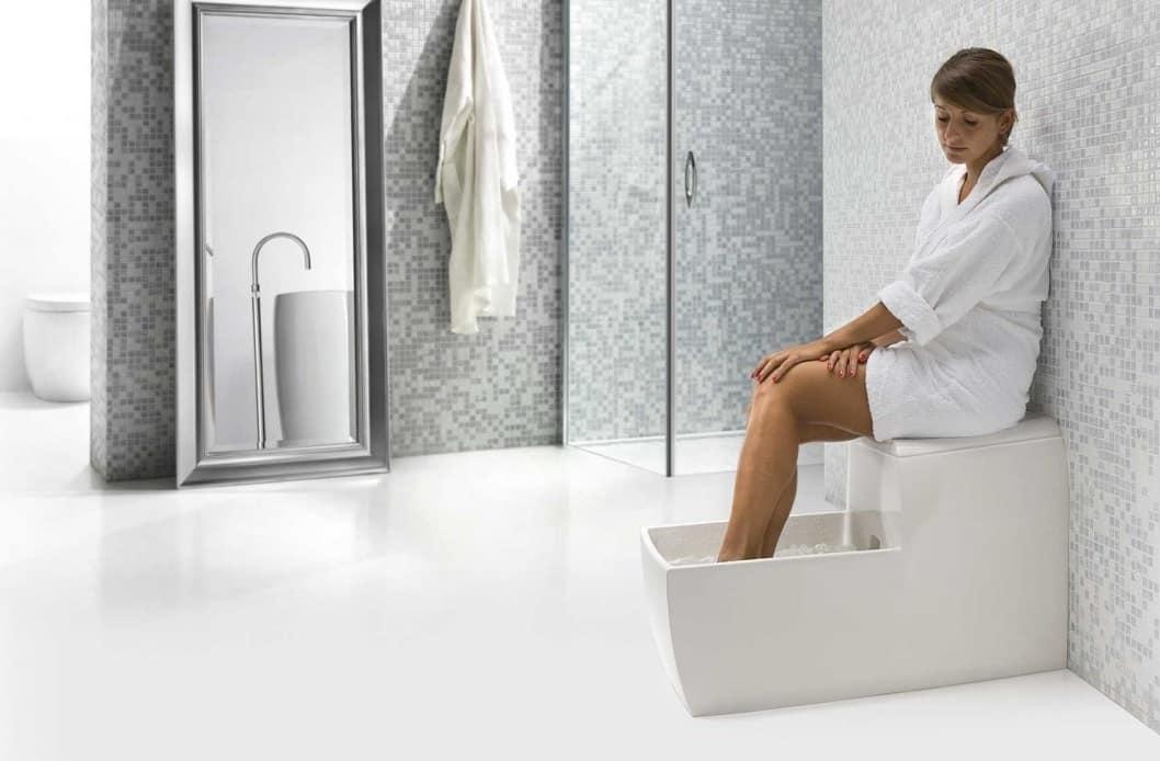 Piccola vasca idromassaggio per piedi idfdesign - Vasca da bagno con i piedi ...