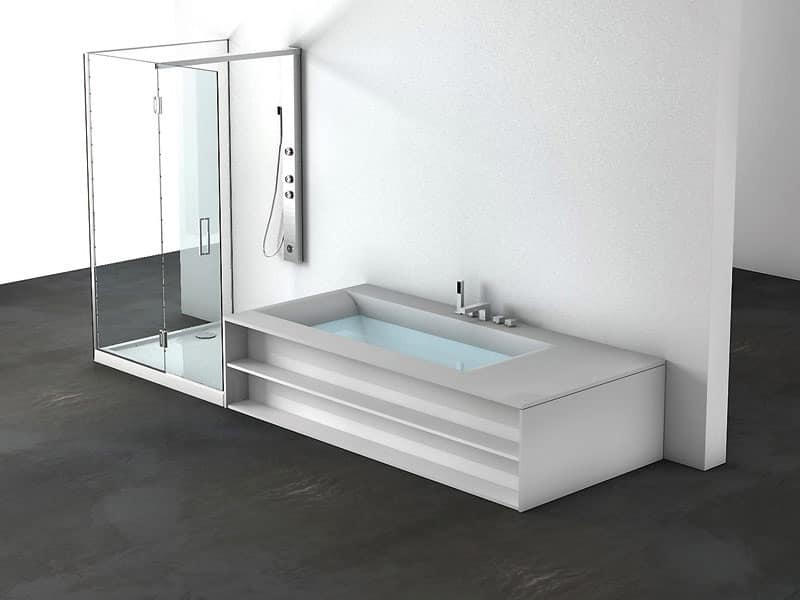 Vasca con box doccia, personalizzabile, per centro estetico ...