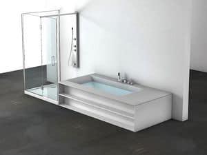Sensual 250 S, Vasca con box doccia, personalizzabile, per centro estetico