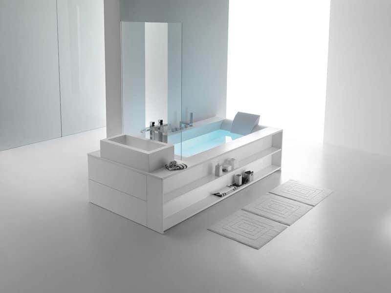 Vasca da bagno moderna camera d 39 albergo idfdesign - Immagini vasche da bagno ...