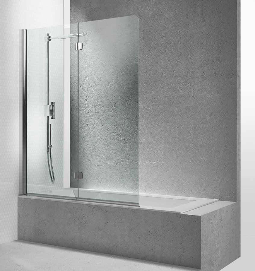 Parete doccia per vasca da bagno con apertura pieghevole  IDFdesign