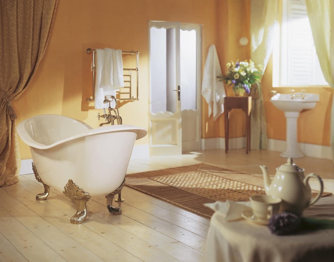 Vasca da bagno con piedi disponibile in varie finiture idfdesign - Vasca da bagno con piedini prezzi ...