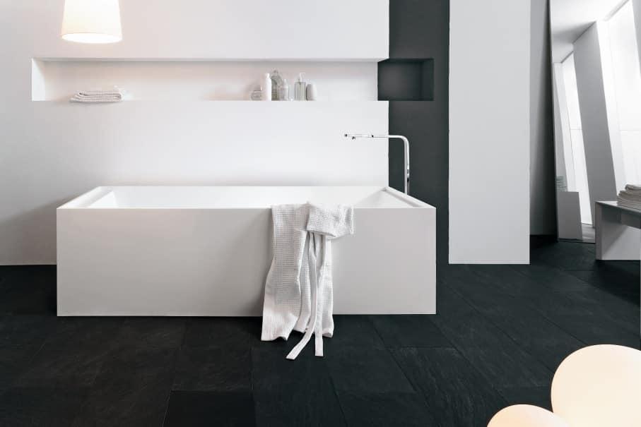 Vasca Da Bagno Freestanding Corian : Vasca da bagno in corian bianco idfdesign