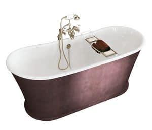 York, Vasca da bagno in ghisa rivestita in pelle