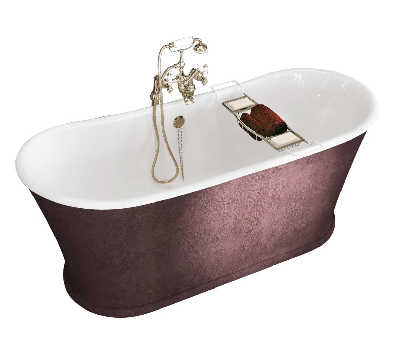 Vasca da bagno in ghisa rivestita in pelle  IDFdesign