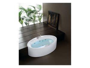 Zaphiro, Vasca da bagno moderna, con cromoterapia, per area relax