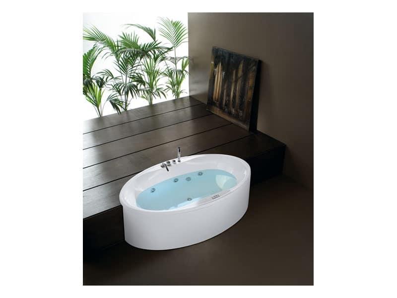 Vasca da bagno moderna con cromoterapia per area relax - Cromoterapia vasca bagno ...