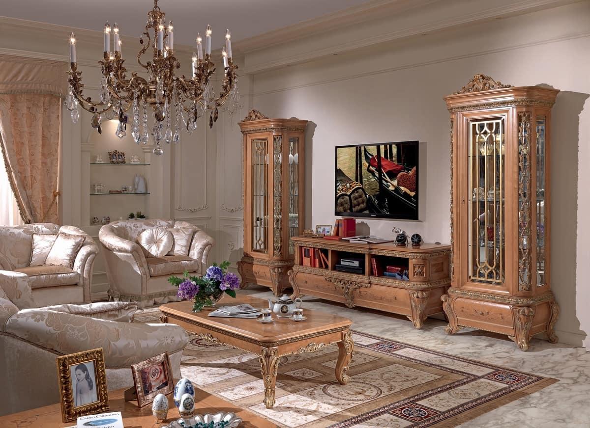 Vetrinetta in legno e vetro stile classico idfdesign - Soggiorni di lusso ...