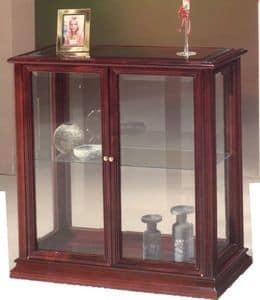 2055 MOBILETTO, Piccola vetrinetta in legno e vetro, stile classico