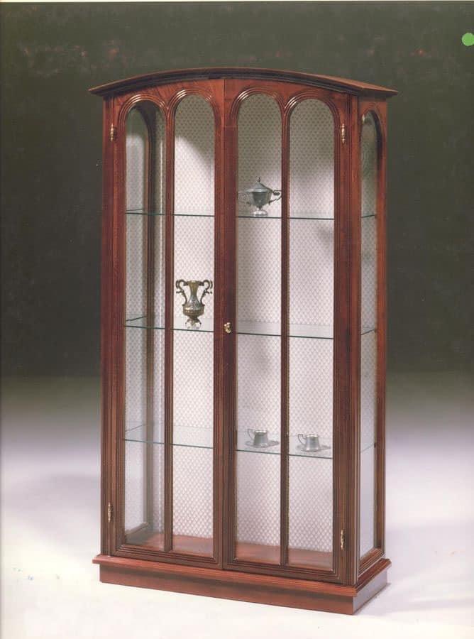 2230 VETRINA, Vetrina classica di lusso per salotto, con 2 ante