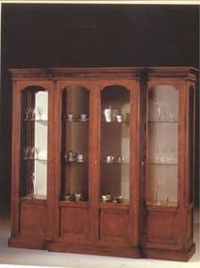 2310 VETRINA, Vetrina con 4 ante in vetro, per salotti in stile classico