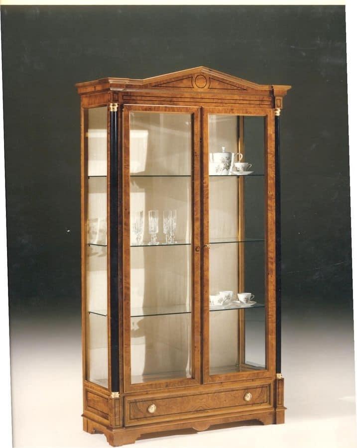 vetrina con 2 ante per sala da pranzo, stile classico | idfdesign - Vetrine Da Soggiorno Classiche