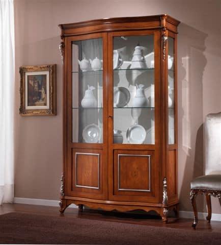 vetrina classica con 2 ante adatta per sala da pranzo | idfdesign - Vetrine Da Soggiorno Classiche 2