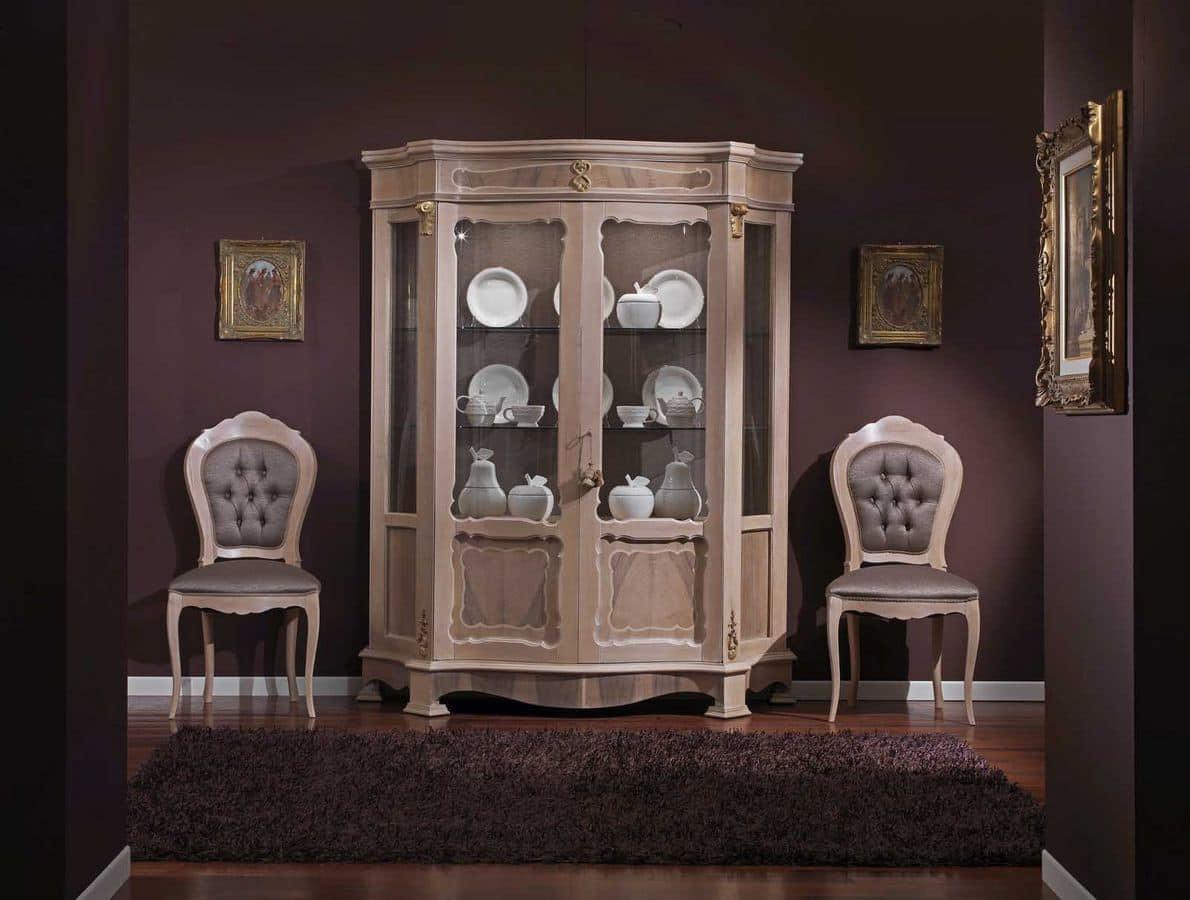 Vetrina classica a 2 ante per soggiorno | IDFdesign