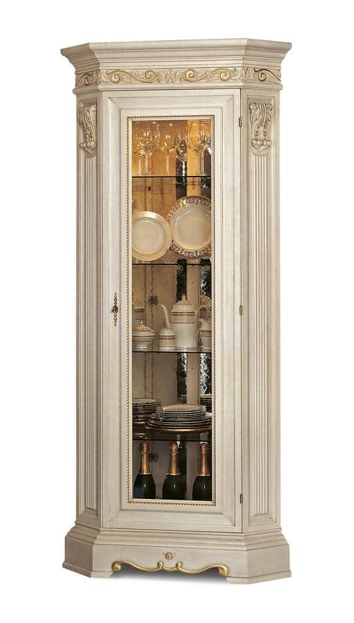 Vetrina classica ad angolo in legno | IDFdesign