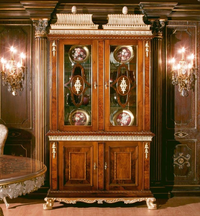 Art. 1057, vetrina due ante, vetrina 2 ante, vetrina 2 ante classico, vetrina stile 700, vetrina ...