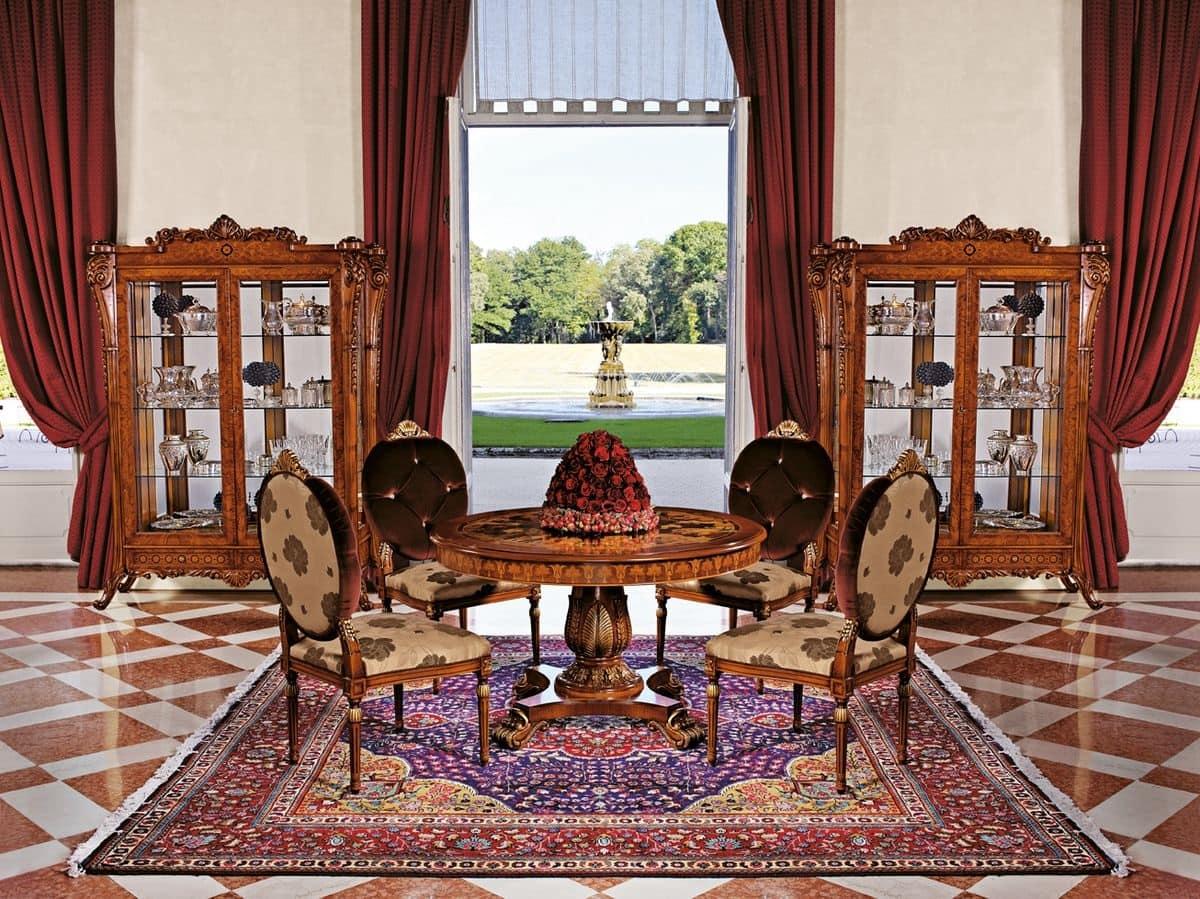 vetrina con 2 ante per soggiorno, stile classico | idfdesign - Vetrine Da Soggiorno Classiche 2