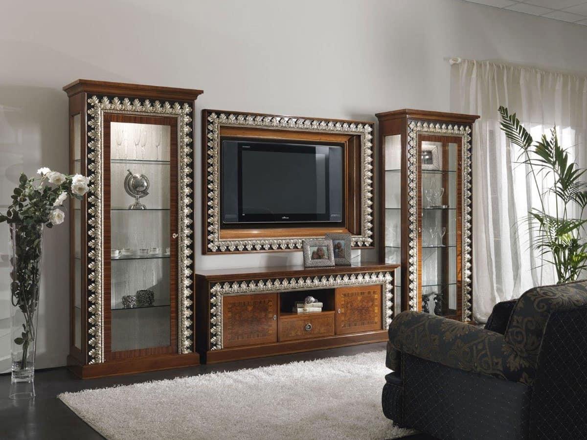 Composizione soggiorno mobili classici arredo salotto for Mobili salotto