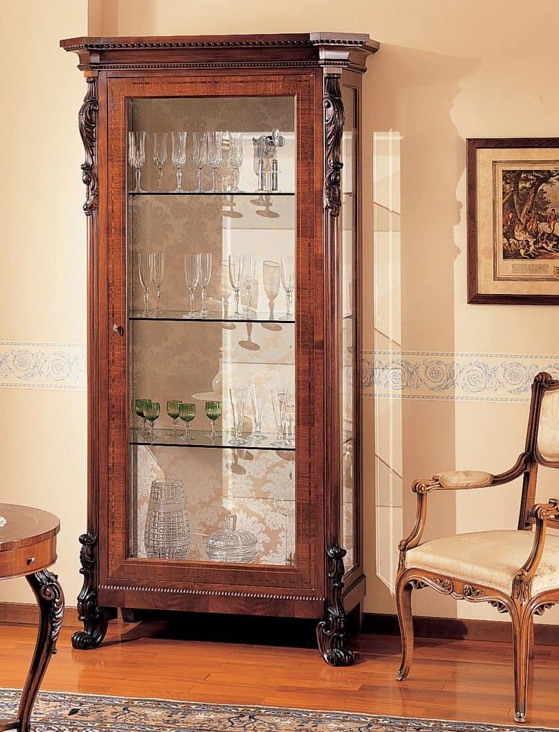 Mobile portaoggetti di lusso per galleria d 39 arte antica idfdesign - Vetrinette da parete ...