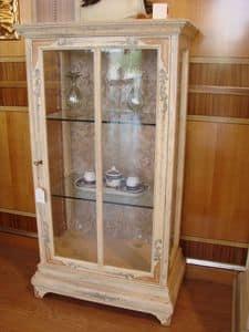 Art. 510, Vetrina a 1 anta, vetri ramati, per salotto classico