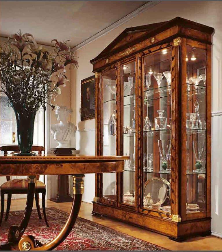 vetrina in stile classico per sala da pranzo e salotti | idfdesign - Vetrine Da Soggiorno Classiche