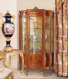 Art. 71, Vetrina classica per soggiorni, con una porta, decori floreali