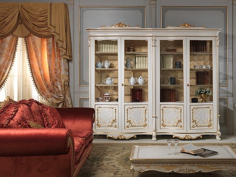 Art. 9007 vetrina, Vetrina elegante di lusso, in legno massello