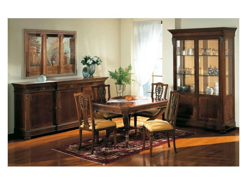 Mobili Per Sala Da Pranzo Classici.Vetrinette In Stile Classico Con Ripiani In Vetro Per Sala