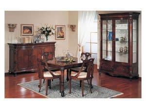 Art. 972 vetrina '700 Siciliano, Vetrina decorata a mano, per soggiorno in stile