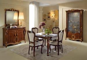 Donatello vetrina 2 ante, Vetrine eleganti, design classico italiano, per salone