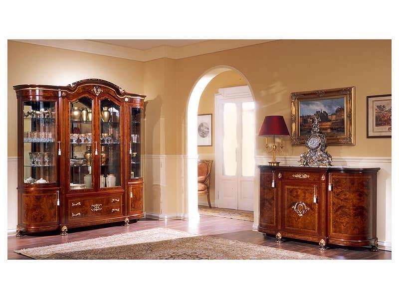 vetrina in stile classico, in legno di frassino | idfdesign - Vetrine Soggiorno Classico