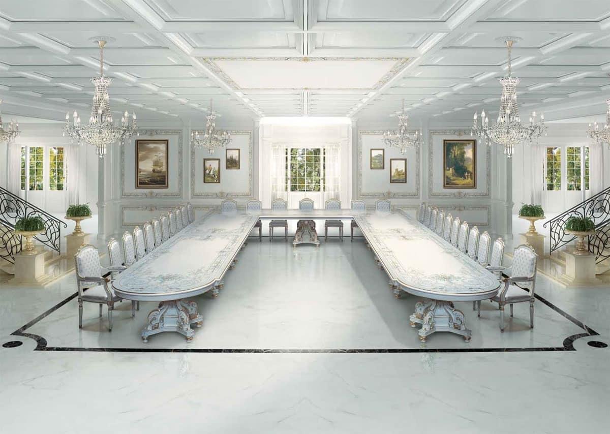 Grande tavolo classico di lusso, in stile art Decò  IDFdesign