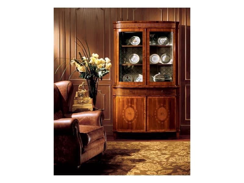 Credenza Con Ante In Vetro : Vetrina in stile classico con cassetti e ante vetro idfdesign