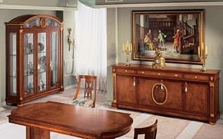 IMPERO / Vetrina a 3 ante, Vetrina in legno di frassino lavorato artigianalmente