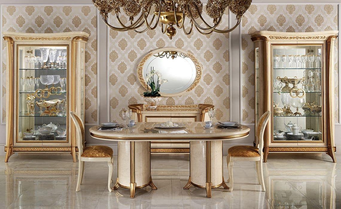 Vetrina classica con 1 o 2 ante per sala da pranzo in stile idfdesign - Mobili sala da pranzo classica ...