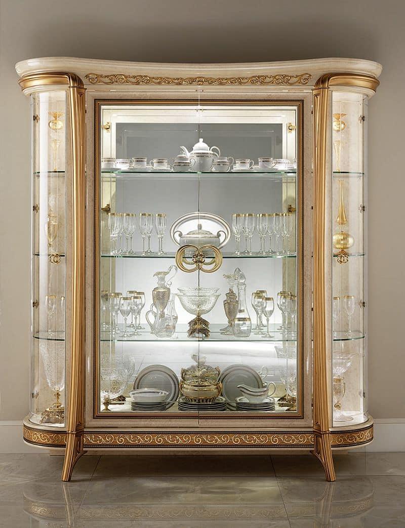 Vetrina classica con 1 o 2 ante per sala da pranzo in stile idfdesign - Vetrine moderne per sala da pranzo ...