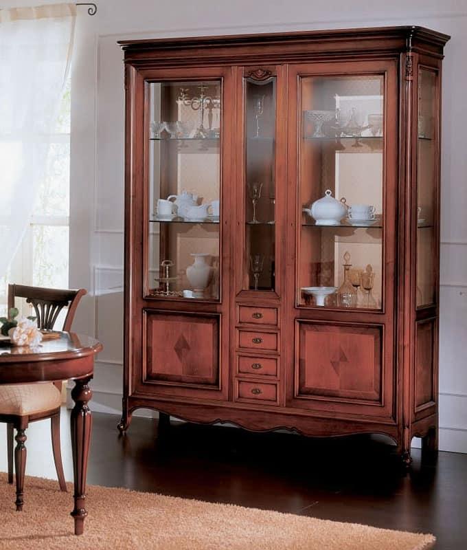 Opera vetrina, Vetrina portaoggetti, classica di lusso, per salotto
