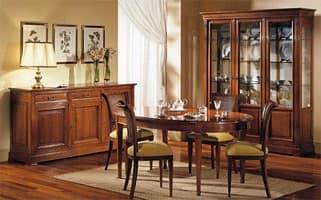 Vetrina in legno e vetro lavorazione artigianale idfdesign for Arredamento classico lusso