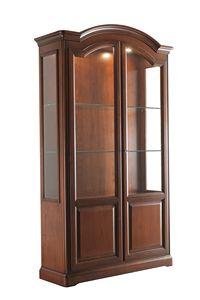 Villa Cinquanta vetrinetta 7578, Vetrinetta in legno con ante in vetro