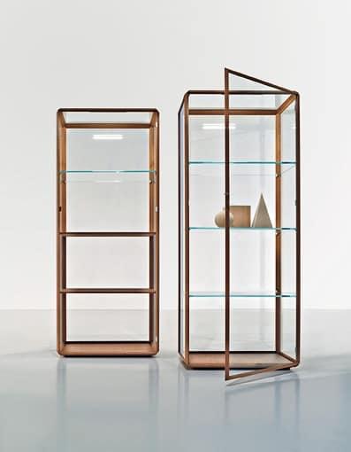 vetrina in legno stile essenziale alto design idfdesign. Black Bedroom Furniture Sets. Home Design Ideas