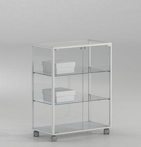 ALLdesign plus 71/BP, Piccola vetrina per negozio, con ante chiudibili con serratura