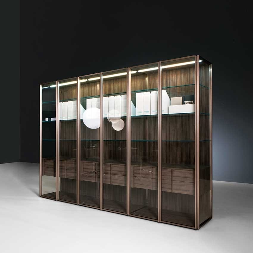 Vetrina moderna ideale per sale da pranzo o salotti idfdesign - Mobile vetrina moderno ...