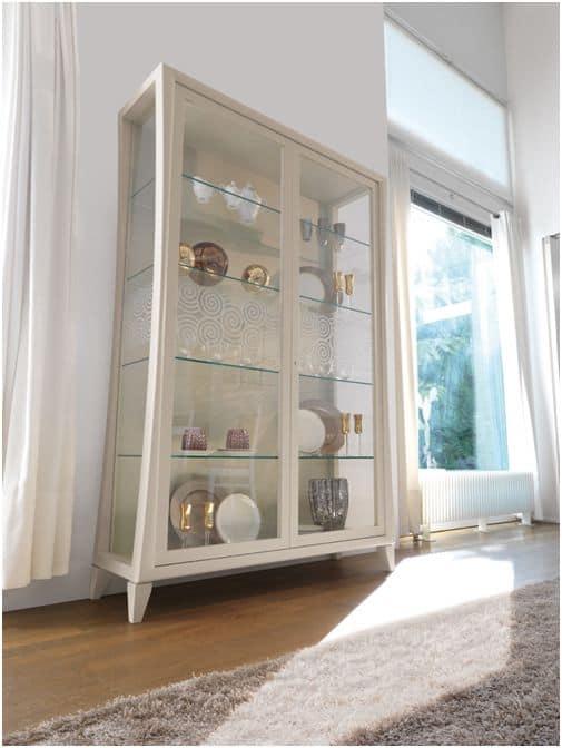Pannelli decorativi per pareti interne - Mobile vetrina moderno ...