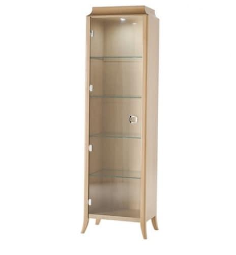 Vetrinetta con anta in cristallo per soggiorno idfdesign for Vetrinetta moderna
